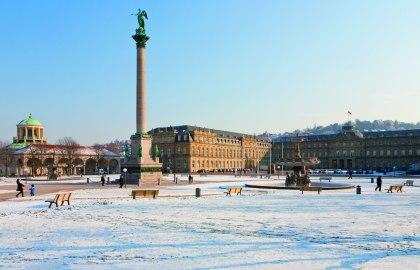 Schlossplatz_Winter, © Stuttgart-Marketing GmbH, Werner Dieterich