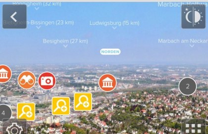 "Augmented-Reality-App ""360-Grad Fernsehturm"", © Stuttgart-Marketing GmbH"