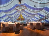 360 degree projection in the main hall, © FILDERHALLE Leinfelden-Echterdingen